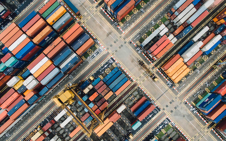 Photo Container en attente de livraison