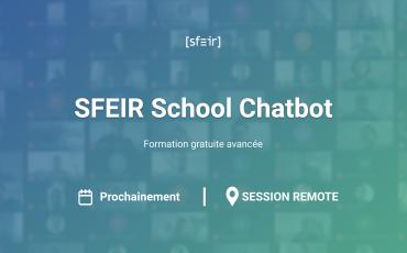Visuel SFEIR School Chatbot