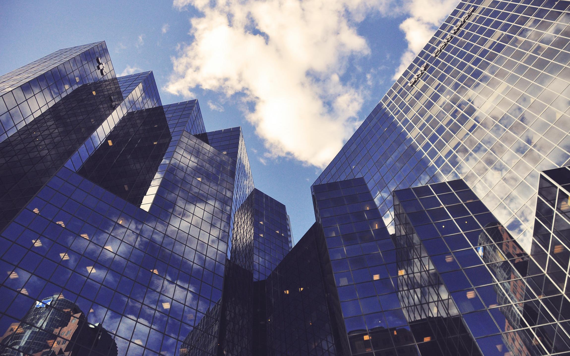 Buildings ensoleillés