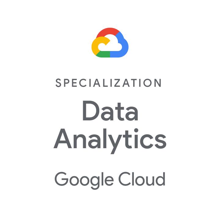 Logo Google Cloud Specialisation Data Analytics