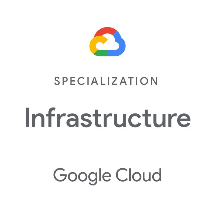 Logo Google Cloud Specialisation Infrastructure